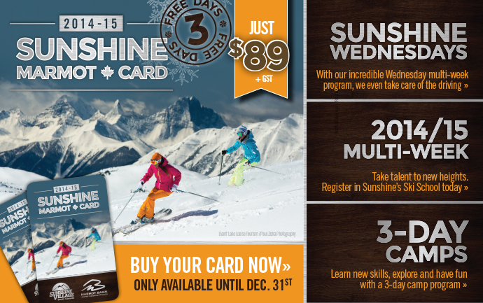 Sunshine Marmot Cards - 3 Free Days
