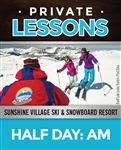 Half Day Private Lesson (Ages: 6+) AM