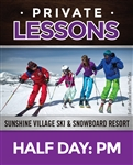 Half Day Private Lesson (Ages: 6+) PM