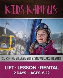 Kids Kampus - Two Full Days Lesson, Lift & Rentals (Ages: 6-12)