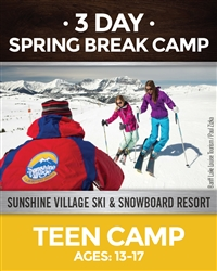 Spring Break 3-Day Camp For Teens