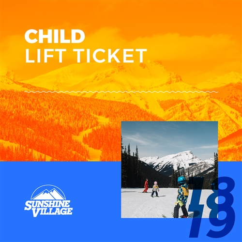 Banff Sunshine Village Child Lift Ticket