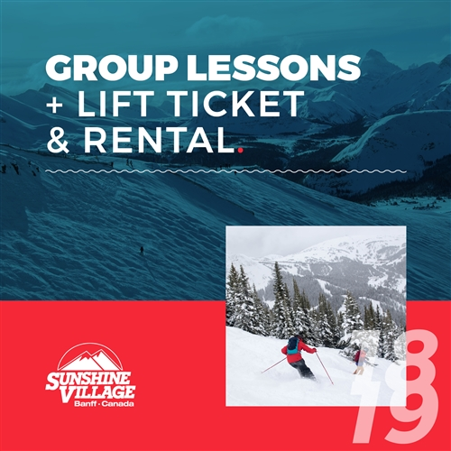 2018-19 Group Lesson + Lift Ticket & Rental