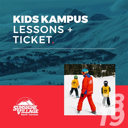 2018-19 Kids Kampus Lessons + Lift Ticket