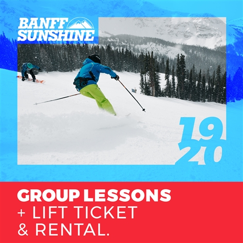 2019-20 Group Lesson + Lift Ticket & Rental