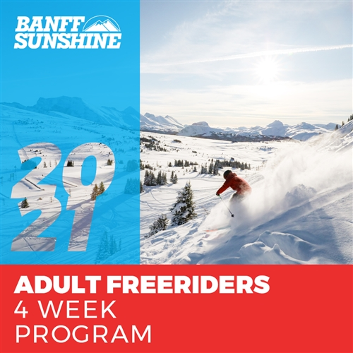 Adult Freeriders 4 Weeks (Ages: 18+)