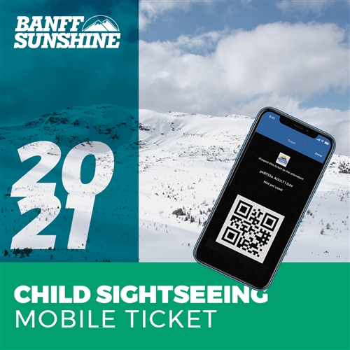 Sunshine Village Child Mobile Lift Ticket Banff
