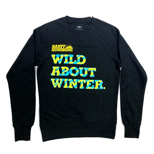Unisex Wild About Winter Black-Turquoise Sweater