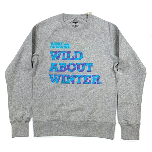Unisex Wild About Winter Grey-Turquoise Sweater